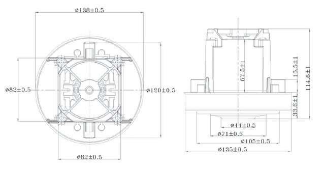 chertezh vc07w70 20180726160729 - Двигатель для пылесоса VC07W70 1500W (Philips)