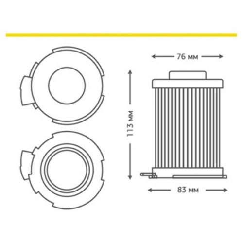 HLG 02 2 1 500x500 - HLG-02 HEPA-фильтр для пылесоса LG (ориг. код 5231FI3800A)