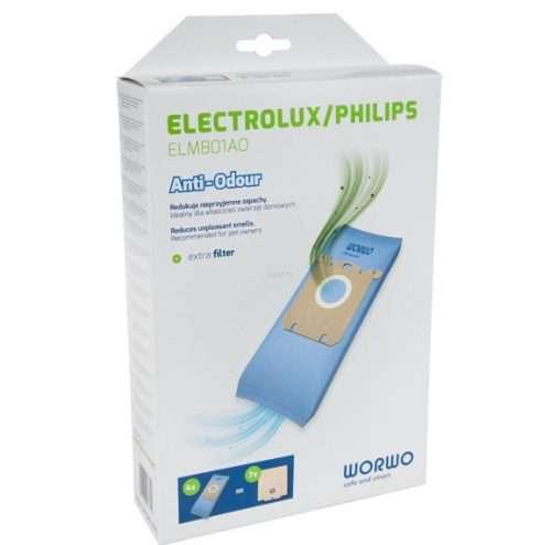 elmb01AO 1 500x494 - ELMB 01 AO Комплект пылесборников противозапаховые 4шт+фильтр; Electrolux,Philips WOR-BAG